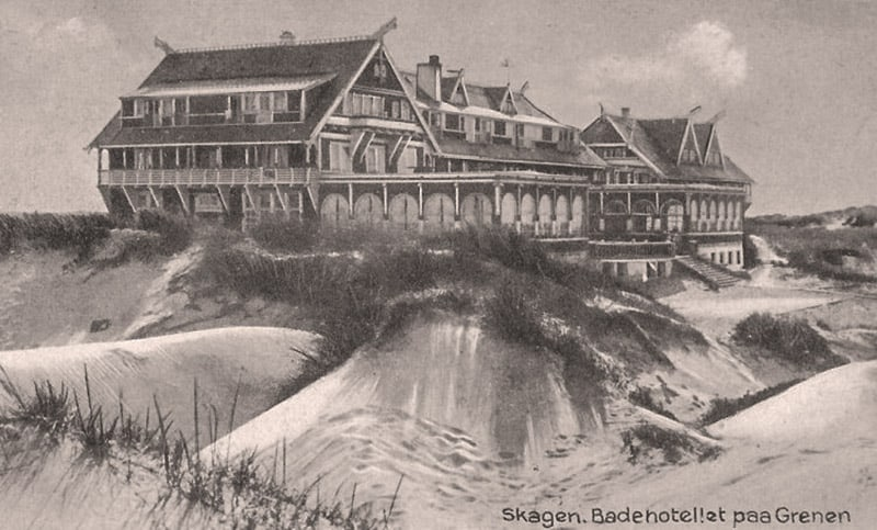 One of the first bath hotels in Denmark - Skagen Badehotel in 1912