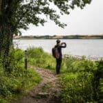 vandrer tager billeder