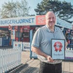 The burger corner in Vig receives the diploma for the best burger in Zealand
