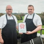 haterslev golf restaurant receives diploma for southern Jutland's best burger 2019