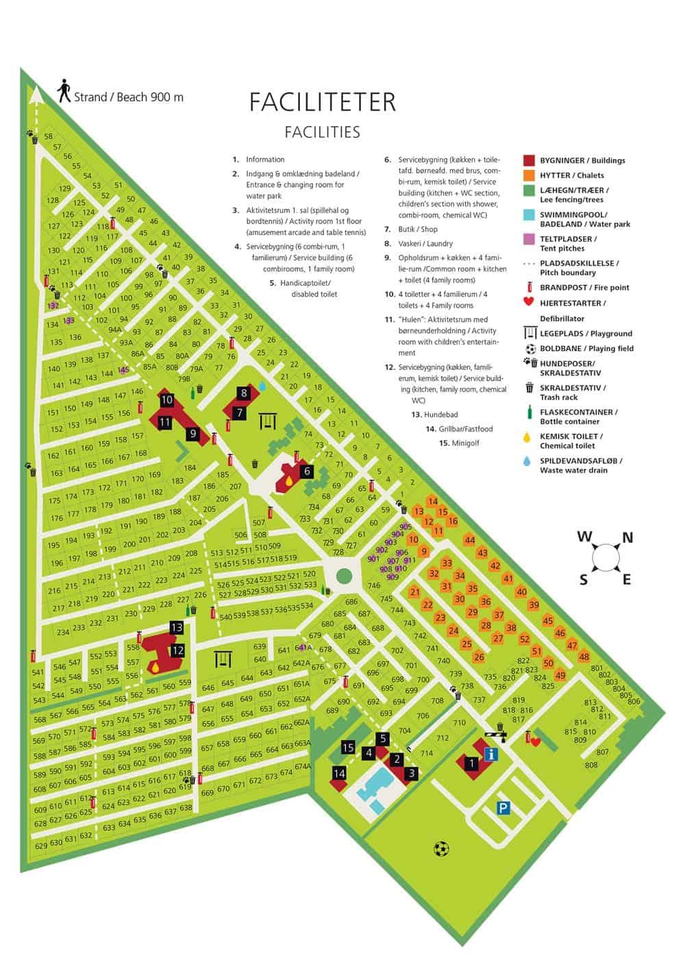Karte des Platzes auf dem Loop Dune Camping
